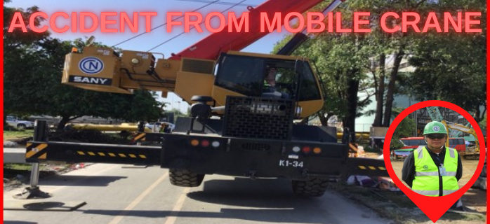 Accident from Mobile Crane